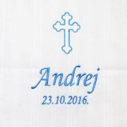 Platno za krštenje krst ime i datum