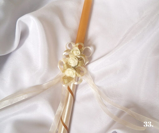 sveca i platno za krstenje