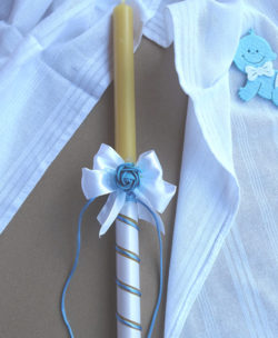 sveca o platno za krstenje za decake