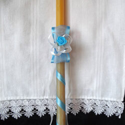 Plavo dekorisana sveca
