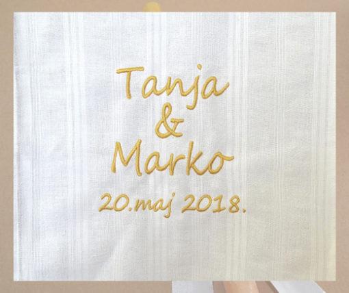 platno za vencanje sa imenima