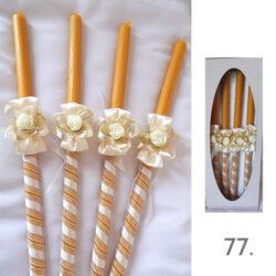 svece i platno za vencanje u crkvi